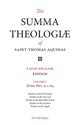 Summa Theologiae Volume I